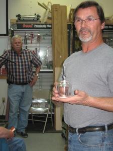 Rickey and his turned acrylic box